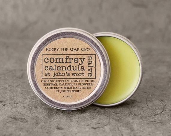 Herbal Salve - Comfrey, Calendula, St. John's Wort Salve - Unscented Salve