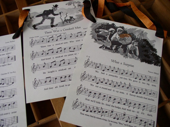 Vintage Halloween Music  Songs circa 1949 Childrens Sing A Long Garland