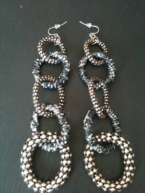 Locked Up Chain Earrings
