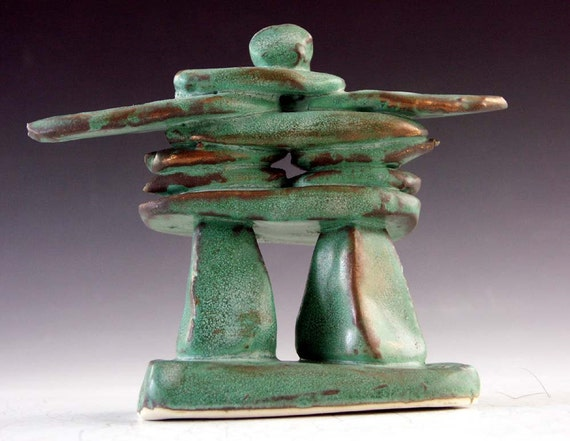 Pottery and ceramic: Inukshuk sculpture