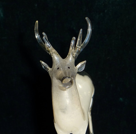 Ice Deer Antique Mercury Glass Reindeer Christmas Ornament