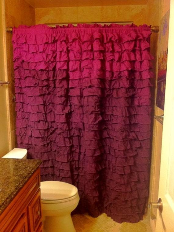Hot Pink Ruffle Curtain Panels | ThisNext