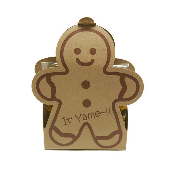 ginger man cookie boxes set of 2