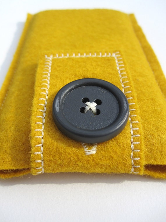 Yellow Wool Felt iPhone Case - Free Shipping (U.S.)