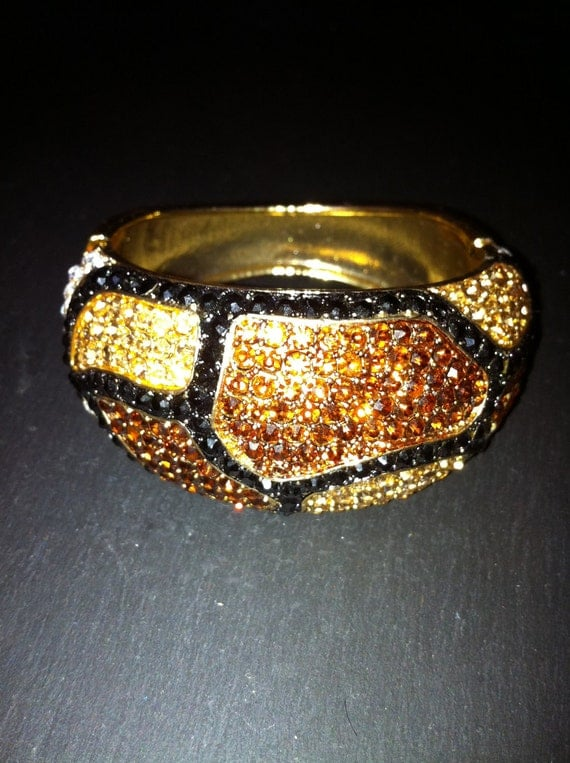 Leopard Swarovski Bangle Bracelet