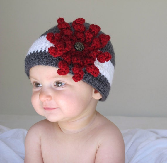 Nadia - Baby/Toddler Girl Hat with Vintage Button Accent sizes 0-3, 3-6, 6-12, 12-24, 2T-4T