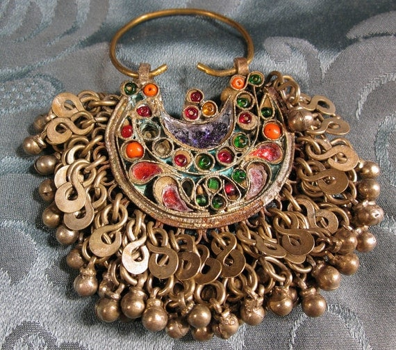 Kuchi nomadic tribal jewelry pendant