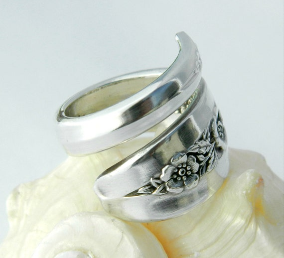 Antique Spoon Ring  - Primrose 1952 - Silverware Jewelry