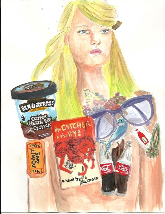 Fashion illustration- Original acrylic/watercolor illustration 8.5 x 11 inches