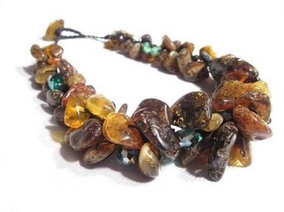 Dark Raw Amber Necklace