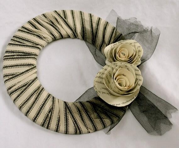 Свадебный потертый шик бумаги Роуз небольшой венок