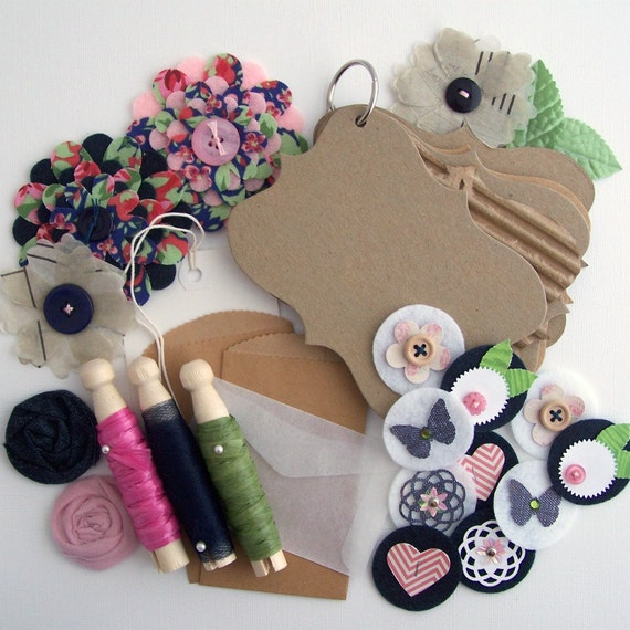 Attitude of Gratitude - Journal Kit and Handmade Embellishments