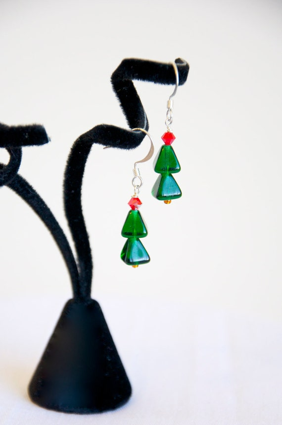 Festive Christmas Tree Earrings