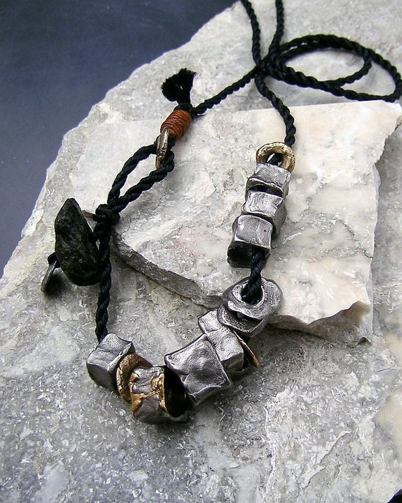 Urban Primitive Raw Steel Cubes - Steel, Bronze and Fossilized Bone