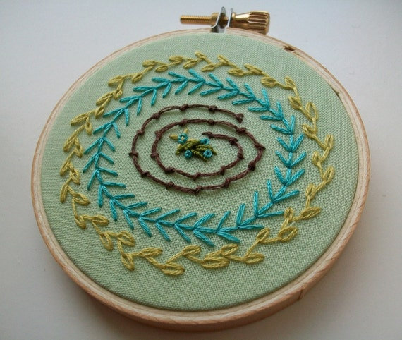 hand embroidered hoop art - freeform sampler in 3 inch hoop by bo betsy - free shipping