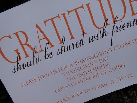 Thanksgiving Invitation (set of 10)