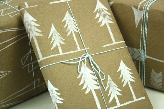 Tree Wrapping Paper Kraft paper gift wrap for Christmas or all occasion