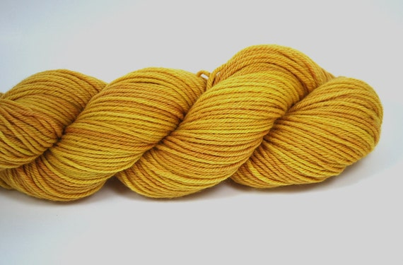 Hand Dyed Yarn Organic Merino Worsted Weight Naturally Dyed in Autumn Harvest orange