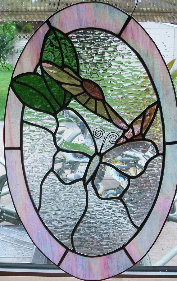 Butterfly Bevelled Stained Glass Suncatcher