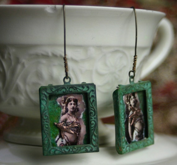 Mata Hari Framed Earrings