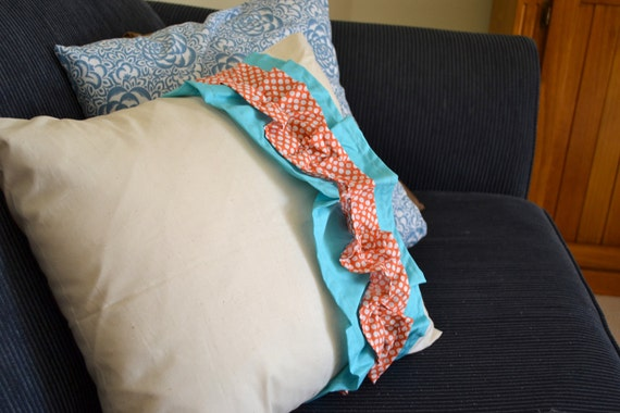 Spotty Dots Ruffled Love Pillow Cover