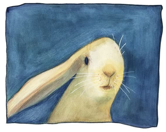 "Rabbit Art - ""Just Because"" - Print no9 from Ltd Edition"