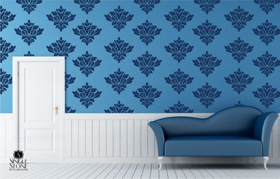 Wall Decals Baroque Pattern - Vinyl Art Stickers