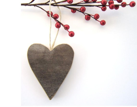 Personalized Heart Valentine Heart Ornaments Barn Wood Valentine decorations rustic wedding decor gift personalize Valentines gifts for him