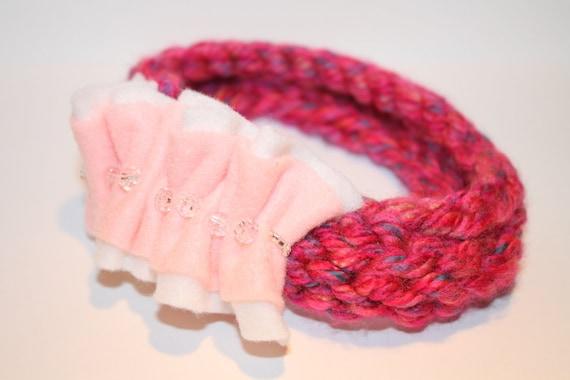Fantasy Handknit Headband- paisleyorpolkadots