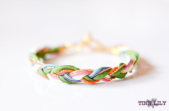 TINNLILY Multi-color Braided Bracelet