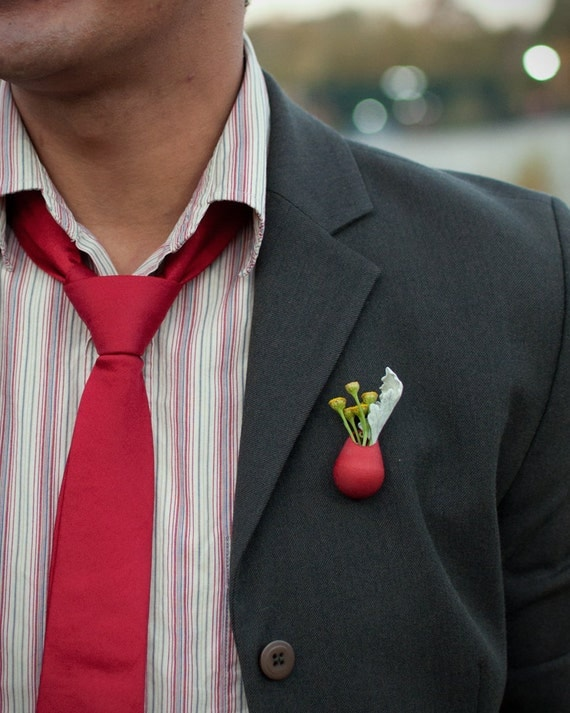 Ruby Planter Lapel Pin: A Wearable Planter