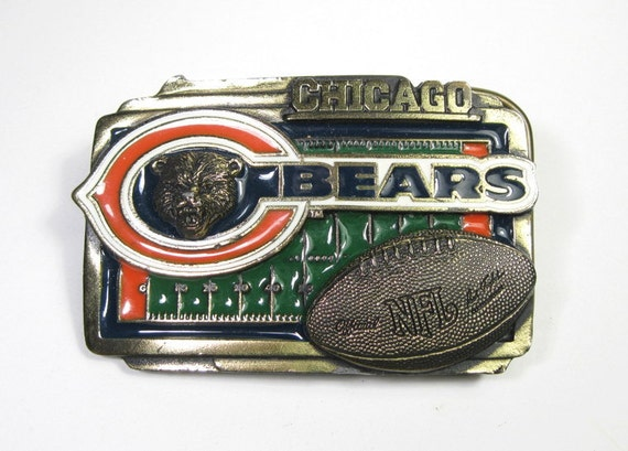 Vintage Belt Buckle, Chicago Bears, Officially Licensed NFL, Great American Products