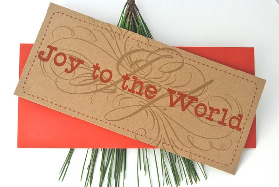 Joy to the World Original Letterpress Holiday Card