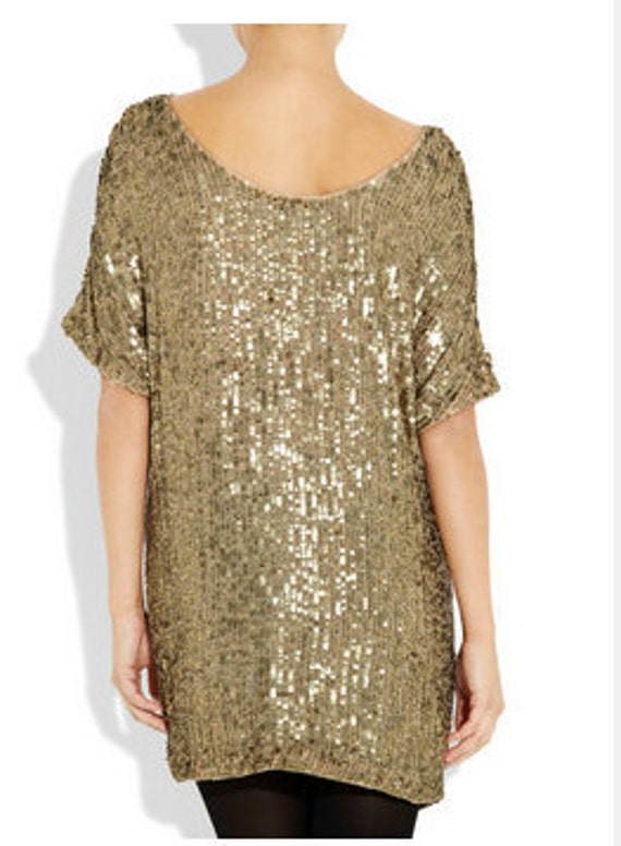 Sequin Top/Dress- Gold, black, silver