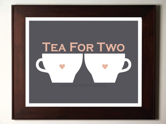 "Blue ""Tea for Two"" print poster"