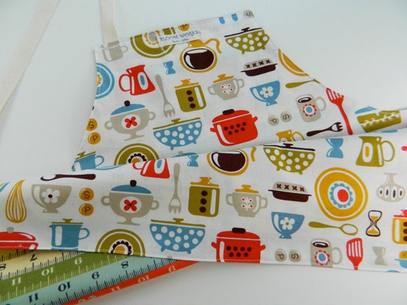 Children's Reversible Apron - Happy Kitchen - Perfect Holiday Gift - Black Friday Etsy
