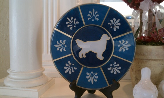 Reverse Painted Pet Silhouette Glass Plate