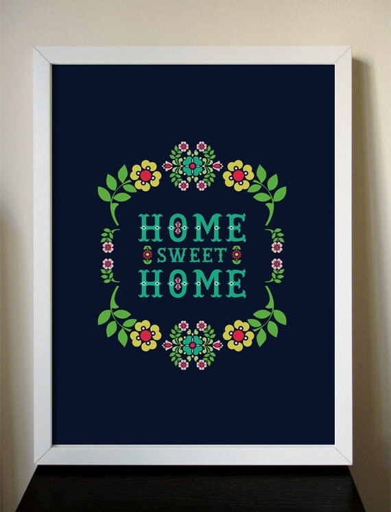 Home Sweet Home giclee art print 12x16