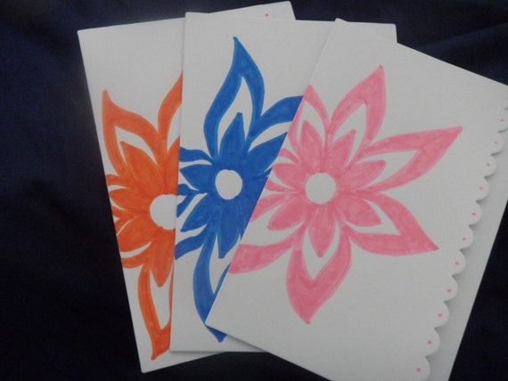 Hand Drawn Flower Cards