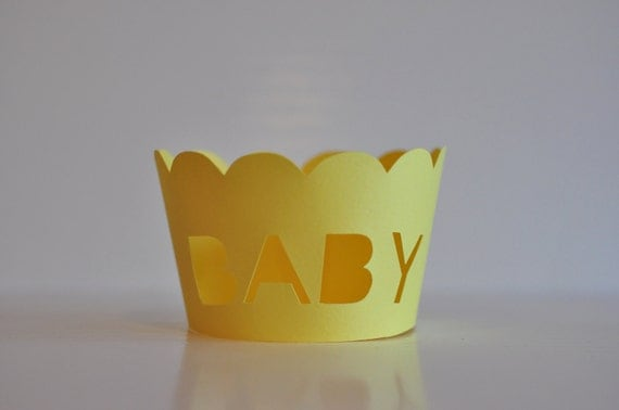 Yellow Baby Cupcake Wrappers
