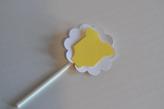 Yellow Baby Cupcake Toppers