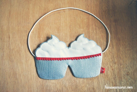 Sleep Mask // Red Velvet Cupcakes // Sweet Dreams // Hand Sewn