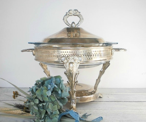 Black Friday Cyber Monday Etsy Holiday Serving Dish Silver Footed Covered