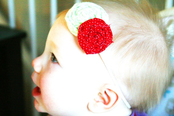 Baby Girl Christmas Headband--Baby Girl Holiday Headband--Christmas Headband--Baby Girl First Christmas