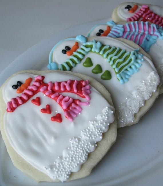 FROSTY the Snowman Sugar cookies - 1 dozen