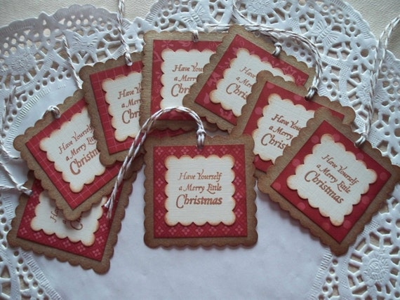 Christmas Tags - Merry Little Christmas - Set of 8