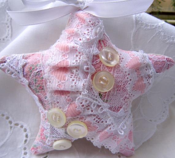 Розовый Потертый Орнамент Звезда набор из двух