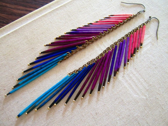 Porcupine Quill Jewelry I saw these porcupine earrings