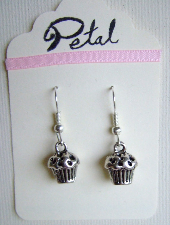 Cupcake silver earrings (POC13)