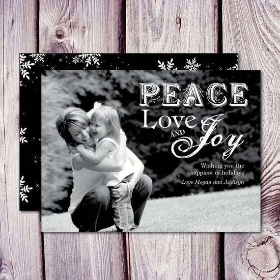 Christmas Card - Peace Love and Joy- Print Yourself
